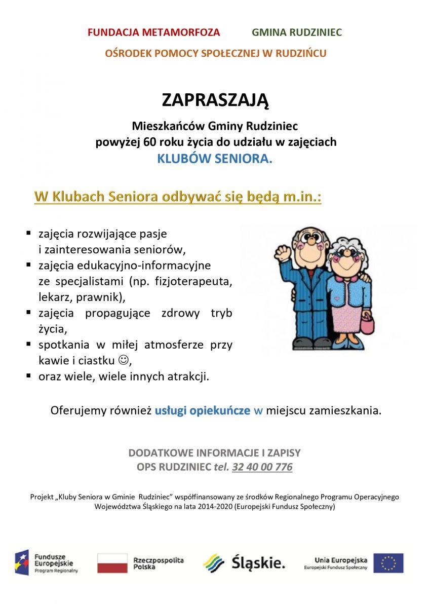 Kluby Seniora w Gminie Rudziniec